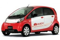 Mitsubishi MiEV plug-in electric car