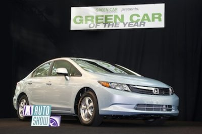 2012 Honda Civic GX wins Green Car of the Year Award