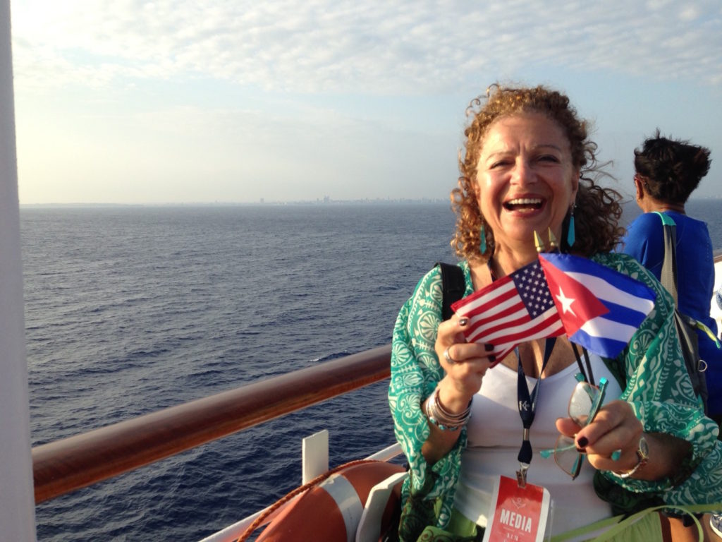 Evelyn Kanter aboard Fathom Adonia