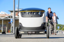 Robots deliver mail in Switzerland