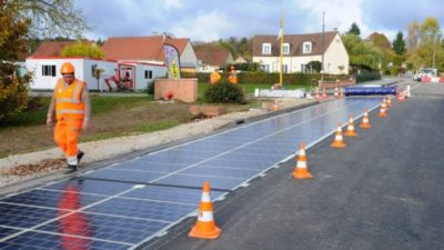 solar powered road in france
