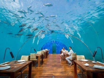 underwater restaurant Ithaa in Mdlaives