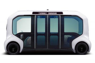 Toyota e-Palette autonomous bus transports athletes and coaches around the Olympic village
